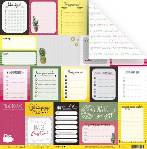 Papel Organização é Tudo - Coleção Todo Momento Importa - JuJu Scrapbook  - JuJu Scrapbook