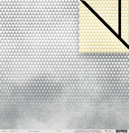 Papel Triangulinhos - Coleção Toda Básica - JuJu Scrapbook  - JuJu Scrapbook