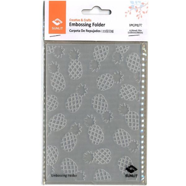 Placa para Relevo 10,5x14,5 cm - Abacaxi / Sunlit  - JuJu Scrapbook