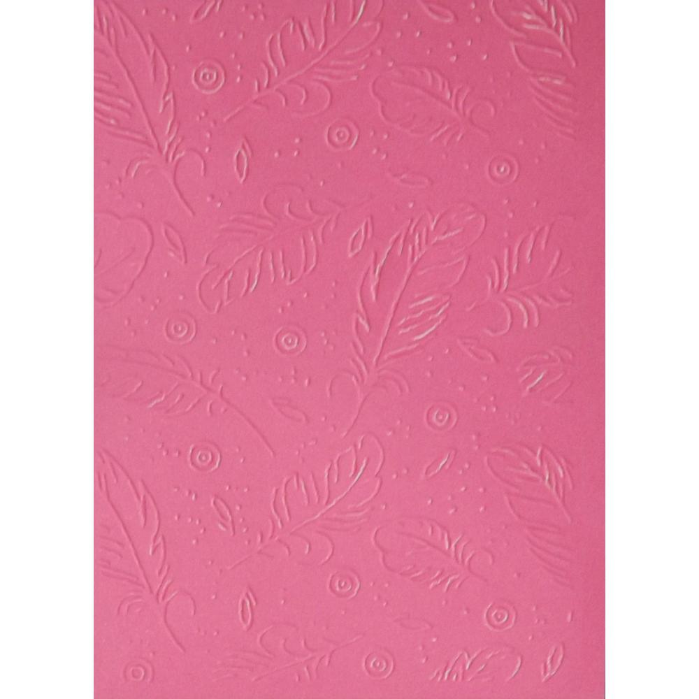 Placa para Relevo 13x18 cm - Penas / Sunlit  - JuJu Scrapbook