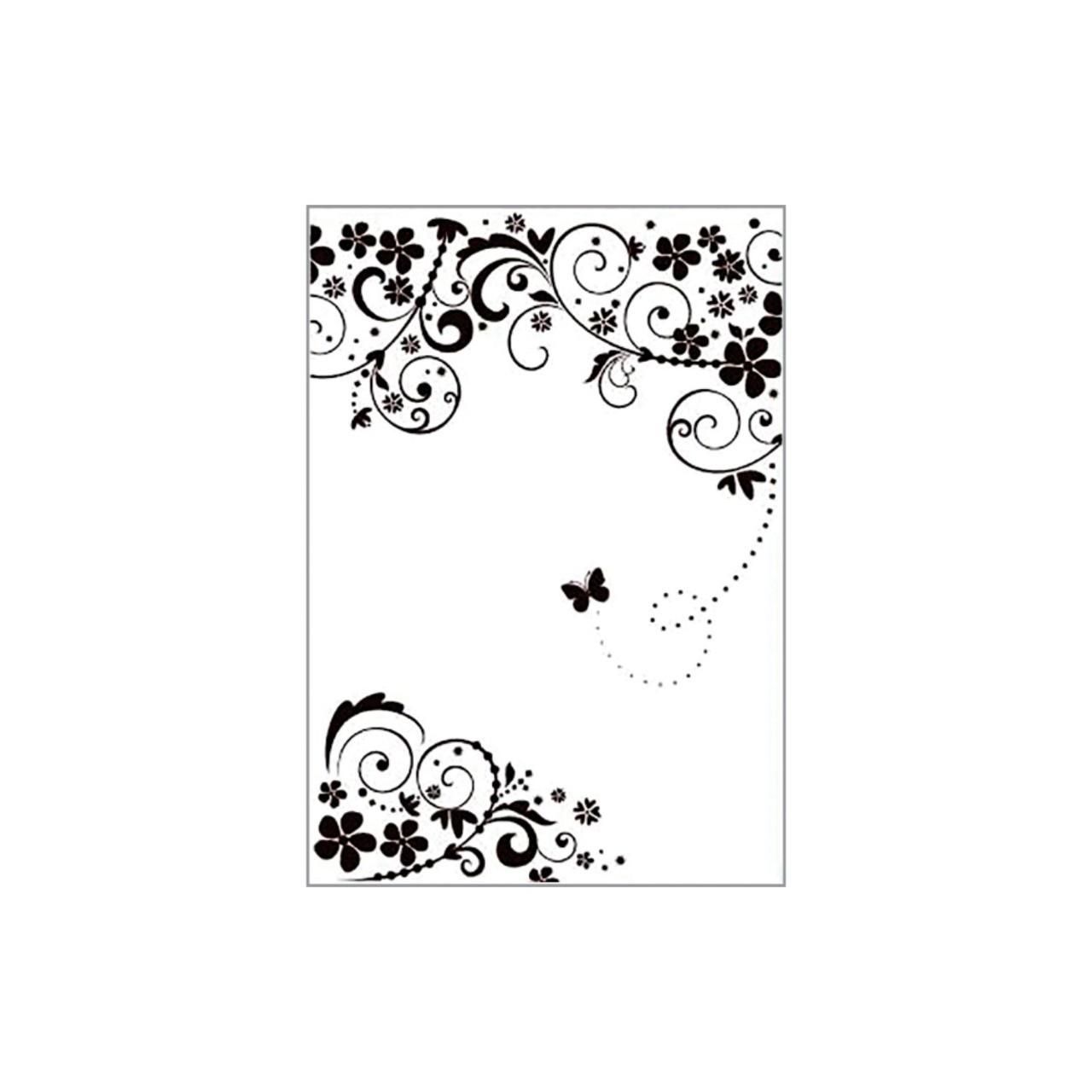 Placa para Relevo 21x29,7 cm - Arabesco Borboleta / Sunlit  - JuJu Scrapbook