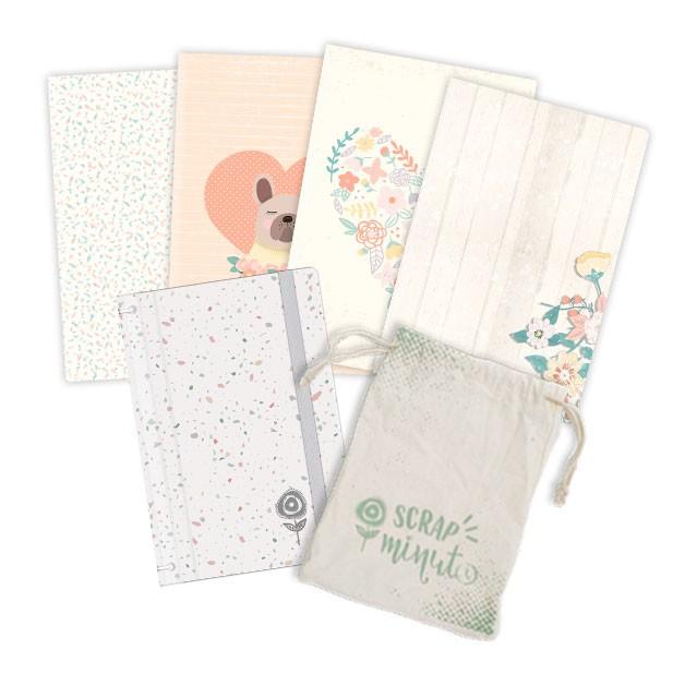 Scrap Minuto - Coleção Amizade é Tudo - Capa Confete   - JuJu Scrapbook