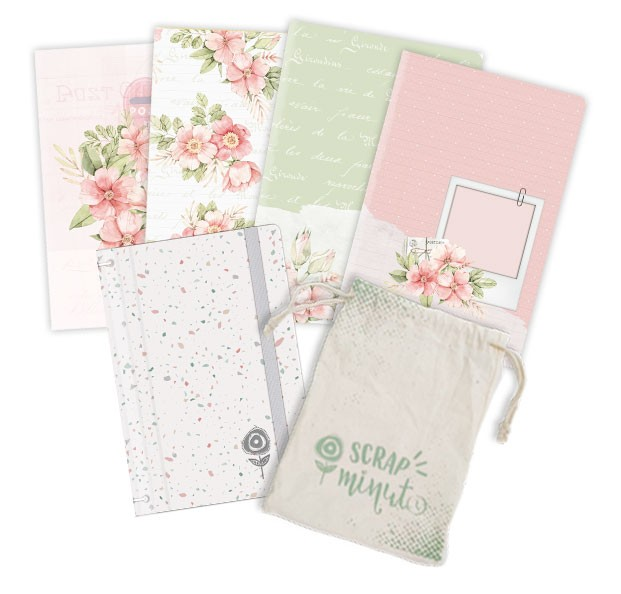 Scrap Minuto - Coleção Cartas para Você - Capa Confete  - JuJu Scrapbook