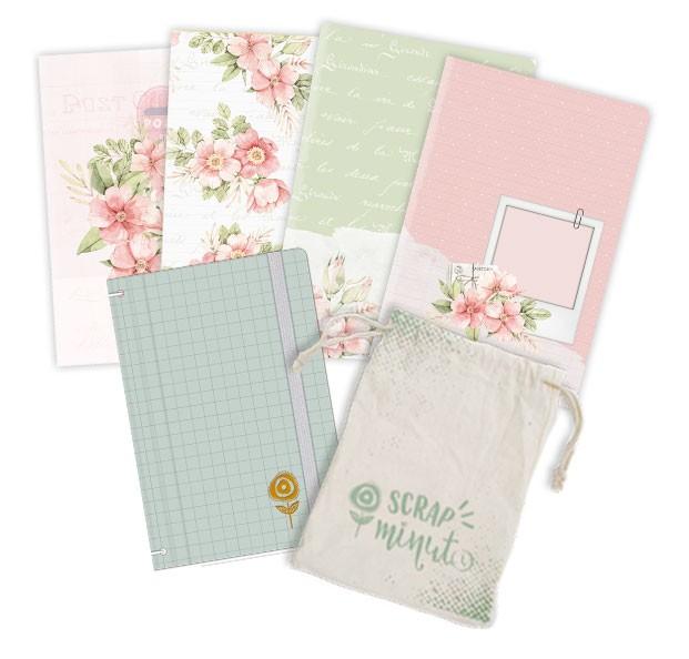 Scrap Minuto - Coleção Cartas para Você - Capa Menta  - JuJu Scrapbook