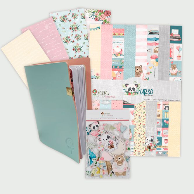 Scrap Minuto - Combo da Hora da Coleção Abraço de Urso / JuJu Scrapbook  - JuJu Scrapbook