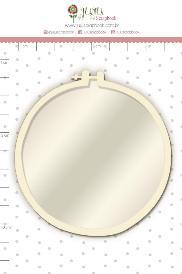 Shaker Chipboard Branco Bastidor - Coleção Quarentena Criativa - Juju Scrapbook  - JuJu Scrapbook