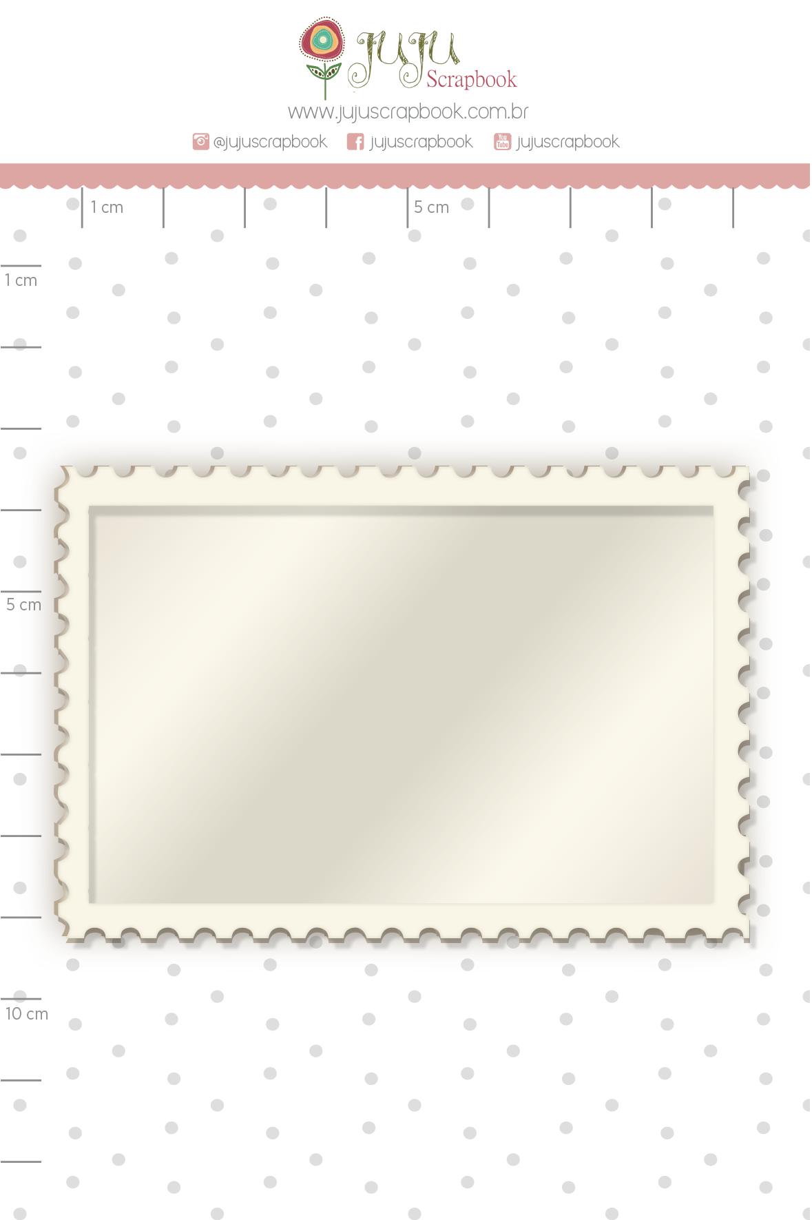 Shaker Chipboard Branco Moldura - Coleção Família para Sempre - JuJu Scrapbook  - JuJu Scrapbook