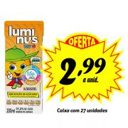 A MELHOR OPÇÃO PARA A LANCHEIRA! Luminus Kids Laranja 200ml (27 unidades)