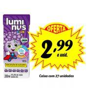 A MELHOR OPÇÃO PARA A LANCHEIRA! Luminus Kids Uva 200ml (27 unidades)