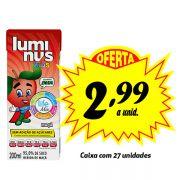 A MELHOR OPÇÃO PARA A LANCHEIRA! Luminus Kids Maçã 200ml (27 unidades)
