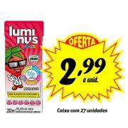 A MELHOR OPÇÃO PARA A LANCHEIRA! Luminus Kids Morango 200ml (27 unidades)
