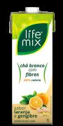 CHÁ BRANCO COM LARANJA E GENGIBRE COM FIBRAS - LIFE MIX - 1L