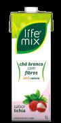CHÁ BRANCO SABOR LICHIA COM FIBRAS - LIFE MIX - 1L
