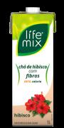 CHÁ DE HIBISCO COM FIBRAS - LIFE MIX - 1L