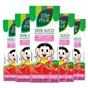 SUCO DE MORANGO COM MAÇÃ - LIFE MIX KIDS - PACK 6 UN