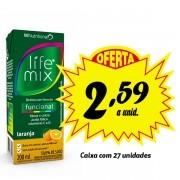Bebida funcional Life Mix Laranja 200ml (27 unidades)