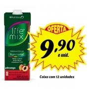 Bebida funcional Life Mix Pêssego 1L (12 unidades)