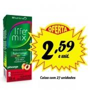 Bebida funcional Life Mix Pêssego 200ml (27 unidades)