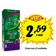 Bebida funcional Life Mix Uva + Cranberry 200ml (27 unidades)