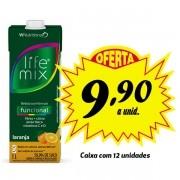 Bebida funcional Life Mix Laranja 1L (12 unidades)