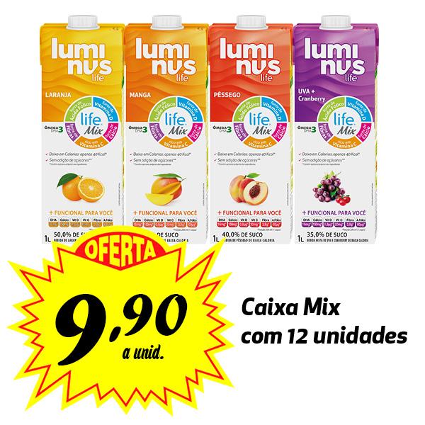 Luminus Life sabores variados 1L (12 unidades)  - Luminus Life