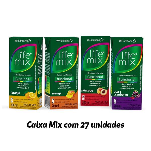 Bebida funcional Life Mix sabores variados 200ml (27 unidades)  - Life Mix