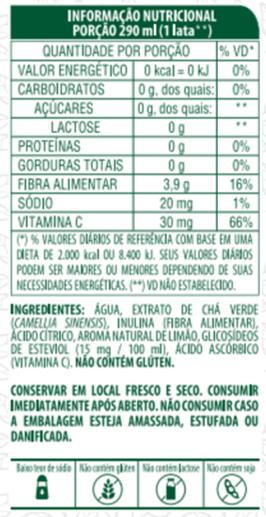 CHÁ VERDE SABOR LIMÃO COM FIBRAS - LIFE MIX - 290 ML