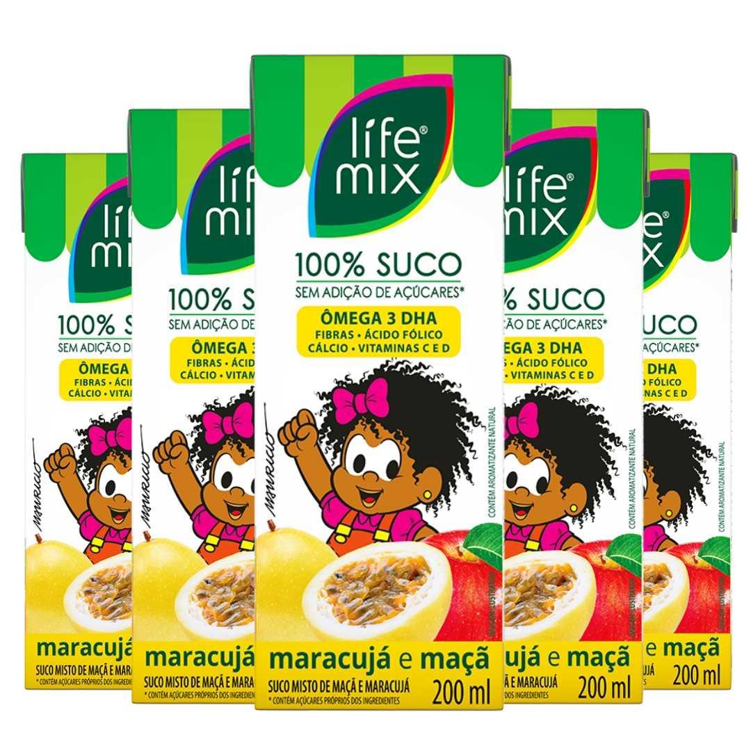 SUCO DE MARACUJÁ - LIFE MIX KIDS - PACK 6 UN