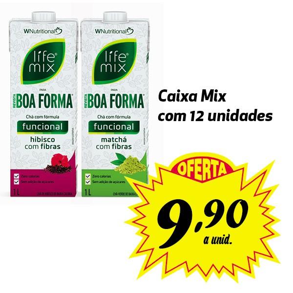 Chá funcional Life Mix Boa Forma sabores variados - 12 unidades de 1 Litro  - Life Mix
