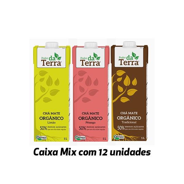 Poder da Terra Mate ORGÂNICO sabores variados 1 Litro (12 unidades)  - Life Mix
