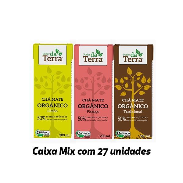 Poder da Terra Mate ORGÂNICO sabores variados 200ml (27 unidades)  - Life Mix