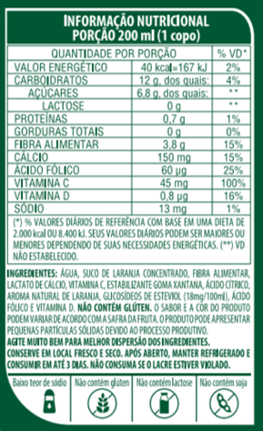 SUCO DE LARANJA DE BAIXA CALORIA - LIFE MIX - 200ML