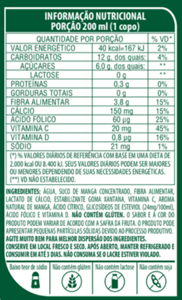 SUCO DE MANGA DE BAIXA CALORIA - LIFE MIX - 1L