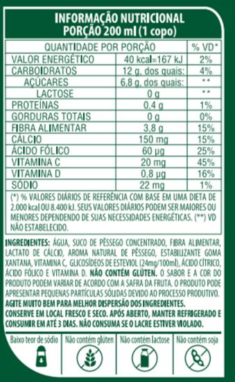 SUCO DE PÊSSEGO DE BAIXA CALORIA - LIFE MIX - 1L
