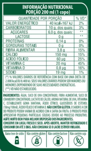 SUCO DE UVA DE BAIXA CALORIA - LIFE MIX - 1L