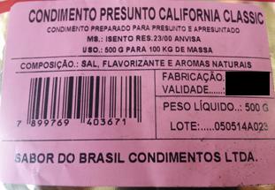 Condimento Califórnia  - Loja Embalatudo