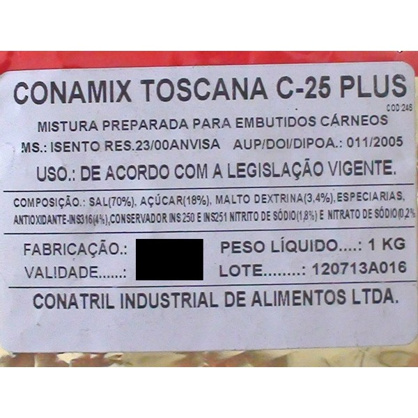 Conamix Toscana C-25 Plus  - Loja Embalatudo