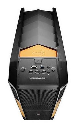 Gabinete Xpredator Evil Preto/Laranja EN56472 - Aerocool