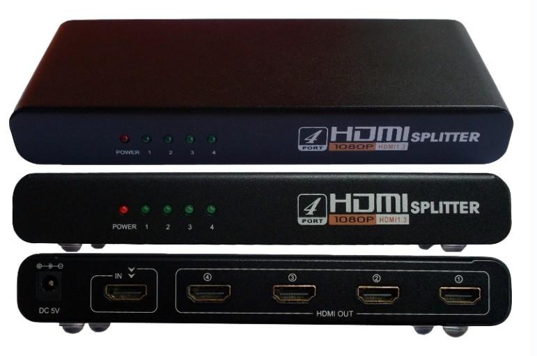 Splitter HDMI (1 Entrada x 4 Saídas) V1.4 3D HDMI-104 HUB0028 - OEM