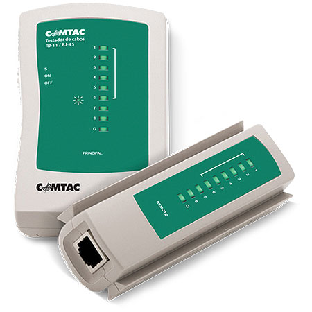 Testador de Cabos RJ-45/RJ-11 9220 - Comtac