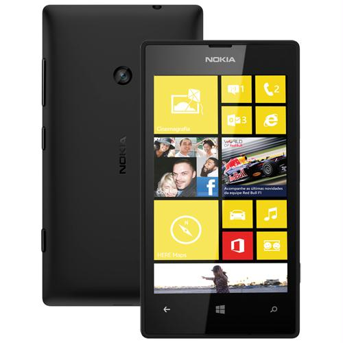 Smartphone Lumia 520 - Windows Phone 8, Camera 5MP, Dual Core 1GHz, 8GB, Wi-Fi, 3G (Desbloqueado) Preto