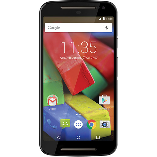 Smartphone Novo Moto G 4G XT1078 Dual Chip Quad Core 16GB Camera 8MP Tela 5 Android 5.0 Preto - Motorola
