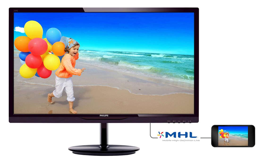 Monitor LED 28 Smart Image Lite Full HD com HDMI 284E5QHAD Preto - Philips