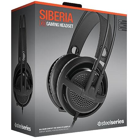 Fone de Ouvido com Microfone Siberia V3 Preto 61357 - Steelseries