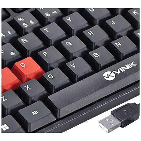 Teclado Gamer VX KG100 Vermelho - Vinik