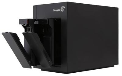 Storage P/Backup ou Vigilância 1+2Ghz DDR3 512MB NAS de Vídeo STCT100 2 Baias 16 Câmeras - Seagate
