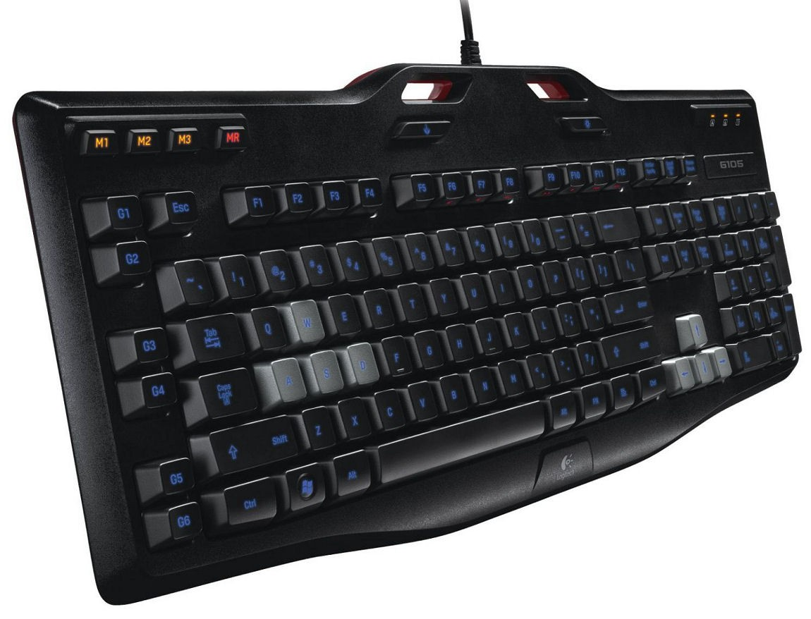 Teclado Gaming G105 Backlighting LED Azul 920-003371 - Logitech