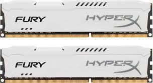 Memória HyperX 16GB 1600Mhz DDR3 DIM (kit of 2) White HX316C10FWK2/16 - Kingston