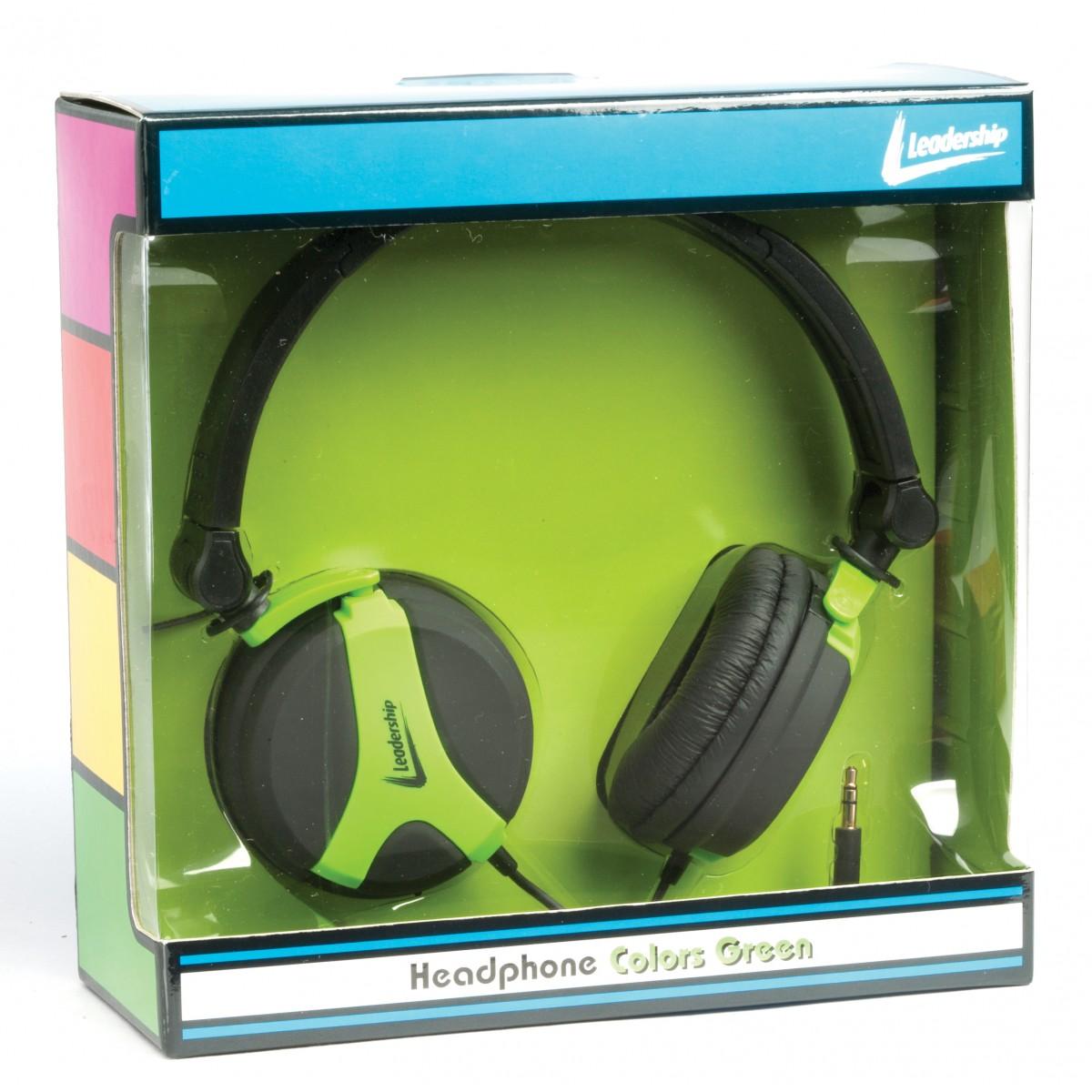 Headphone colors verde 2773 - Leadership