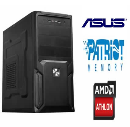 Computador AM1 Athlon 1.6Ghz Quad Core Memória 4GB HD 500GB DVD-RW - Glacon